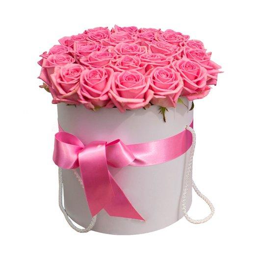Коробка Нежность из 25 розовых роз