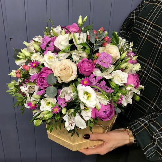 Ягодно-кремовая композиция: букеты цветов на заказ Flowwow