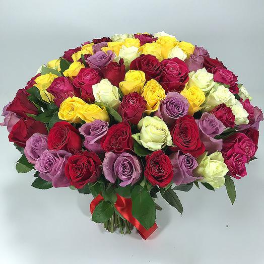 101 роза 40 см: букеты цветов на заказ Flowwow