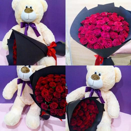 Ведмедик з трояндами