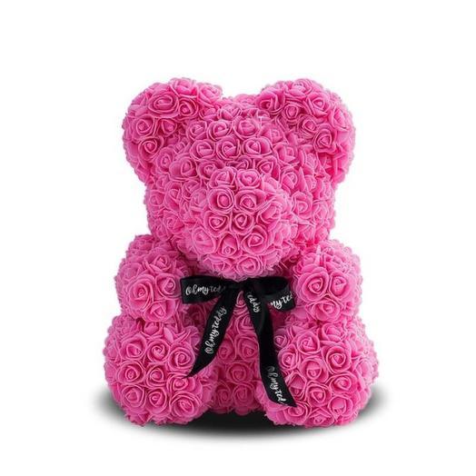 Мишка из 3D роз (40 см): букеты цветов на заказ Flowwow