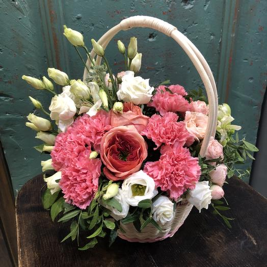 Садовая корзиночка: букеты цветов на заказ Flowwow