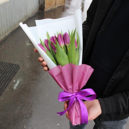 Фиалетовые тюльпаны