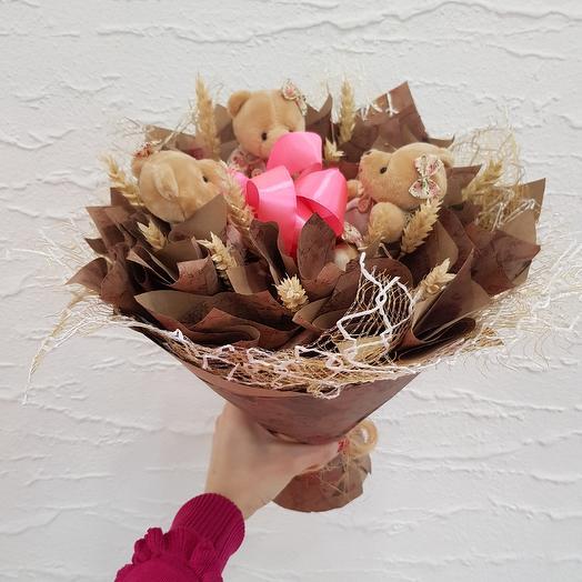 Букет из игрушек3: букеты цветов на заказ Flowwow