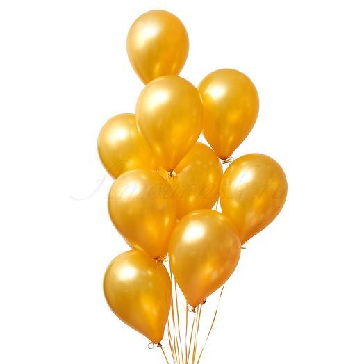 9 золотых шариков: букеты цветов на заказ Flowwow