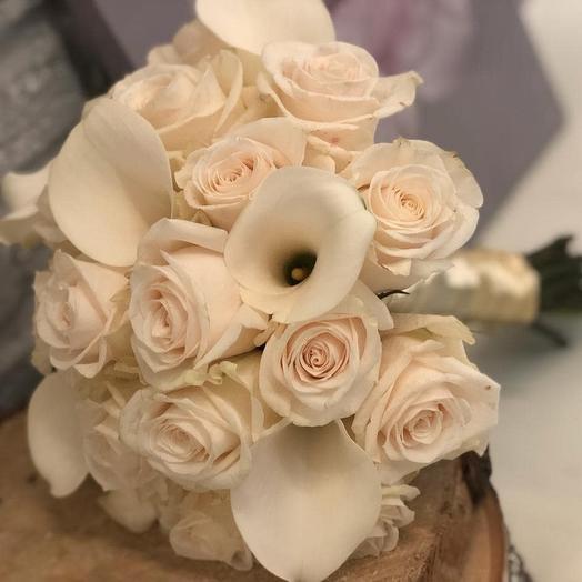 Свадебный с калами: букеты цветов на заказ Flowwow