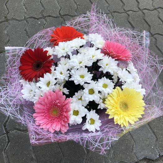 Герберный вальс: букеты цветов на заказ Flowwow