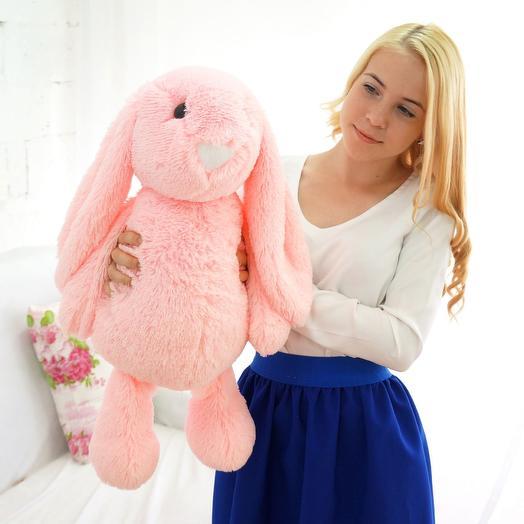 Заяц Лесли 65 см розовый: букеты цветов на заказ Flowwow