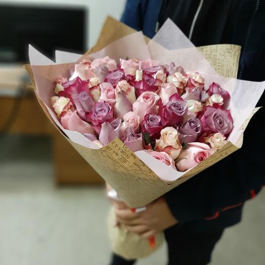 Микс кенийских роз: букеты цветов на заказ Flowwow