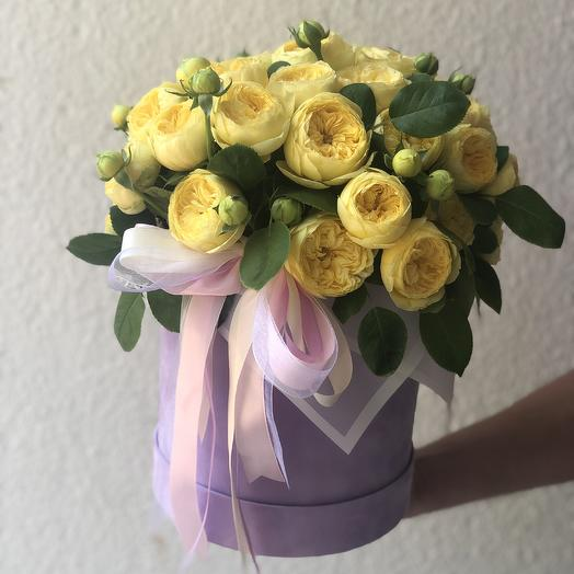 Catalina in a hatbox: flowers to order Flowwow
