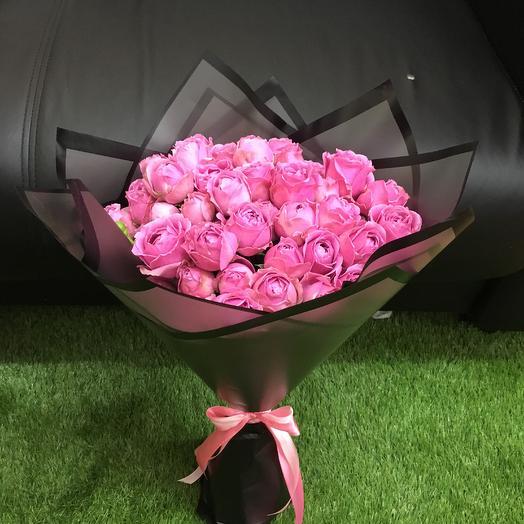 Букет из 19 пионовидных роз Мисти Баблз ( 50 см ): букеты цветов на заказ Flowwow