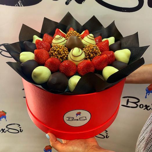 Клубничный букет L: букеты цветов на заказ Flowwow