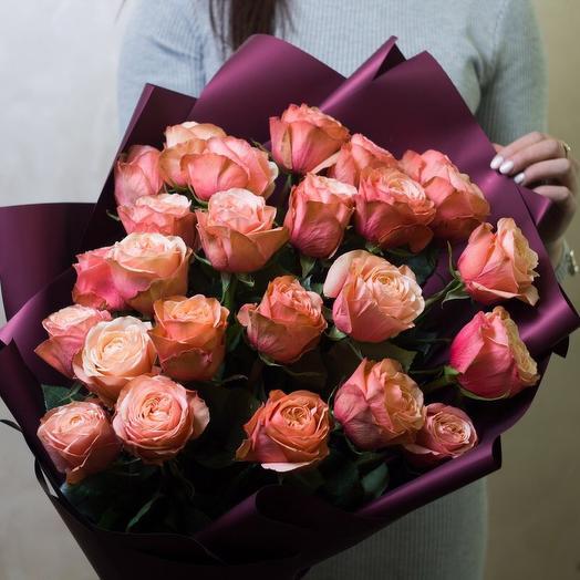 Букет чайных роз Kahala 25 шт