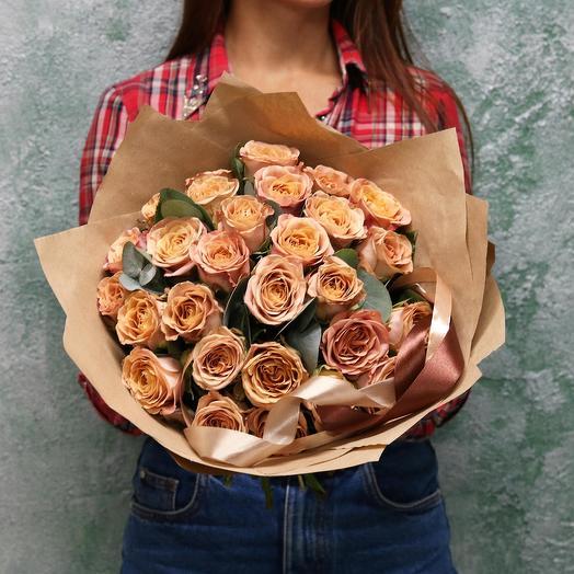 """Роза """"Капучино"""": букеты цветов на заказ Flowwow"""