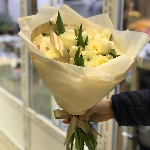 «Карамельное суфле»: букеты цветов на заказ Flowwow