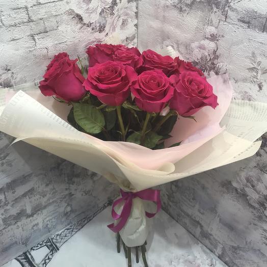 Букет 11 эквадорских роз 50 см: букеты цветов на заказ Flowwow