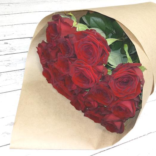 Розы Ред Наоми 60 см, 19 шт