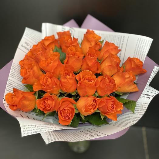 Букет огненных роз
