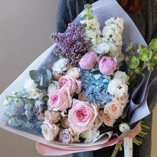 Букет цветов,,Голубая лагуна '