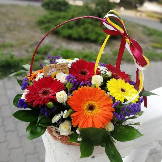 Basket with Gerberas