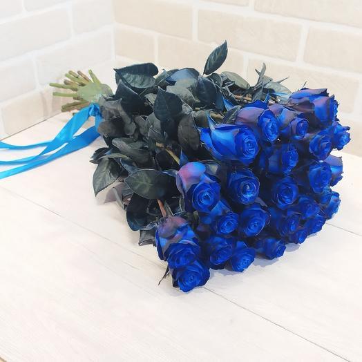 25 синяя роза Premium