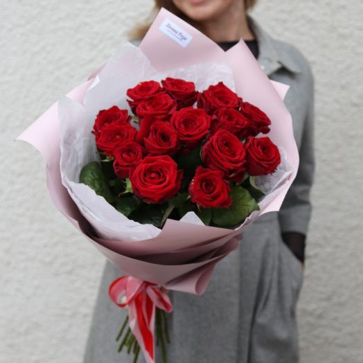 15 красных Роз с запахом малины
