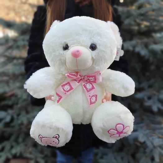 Медведь с бантом 35 см