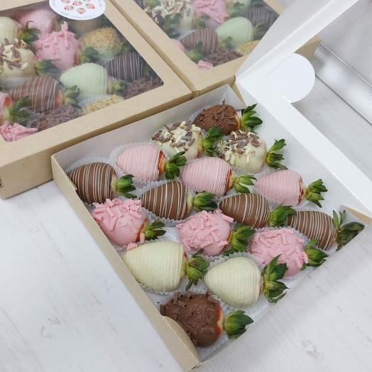 Клубника в бельгийском шоколаде (средний набор)