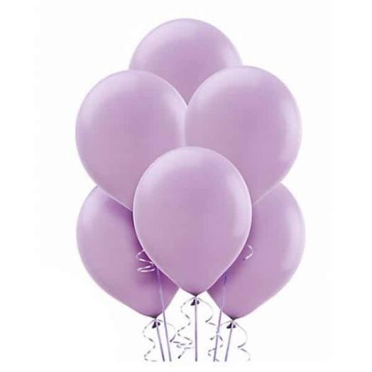 Сиреневые гелиевые шары 7шт