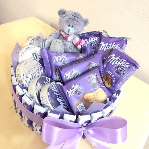 Шоколадная коробочка милка