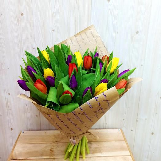 Весная идет (21 тюльпан)