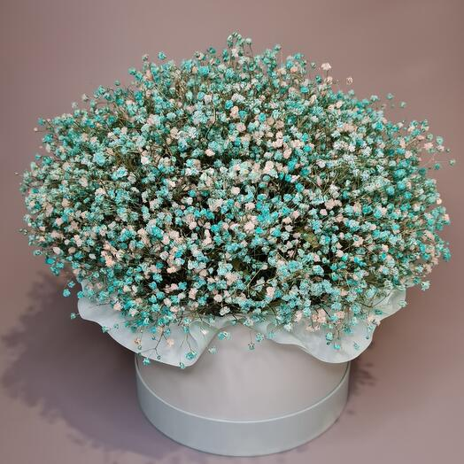 Букет из стабилизированной гипсофилы в мятном цвете