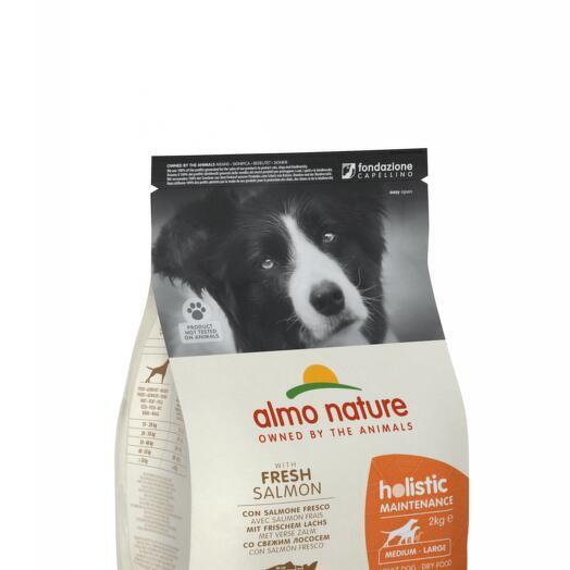 Almo Nature сухой корм для взрослых собак всех пород с лососем 2 кг