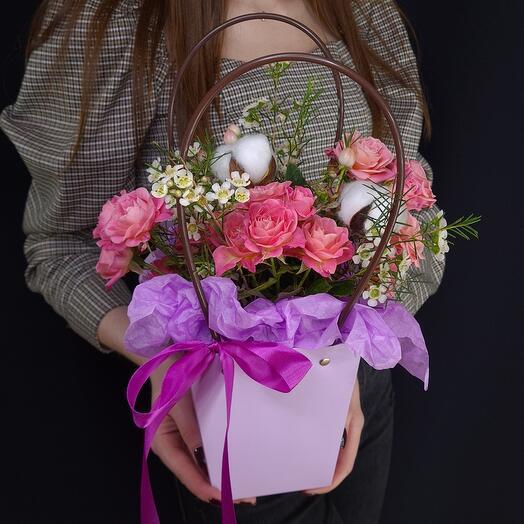Сумочка с цветами 💐 комплимент 💖