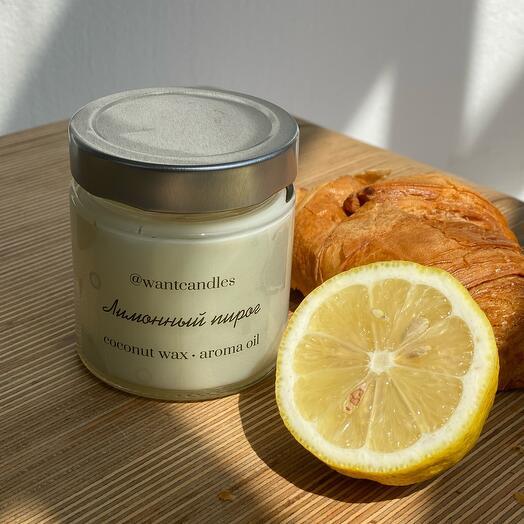 Свеча с ароматом лимонный пирог