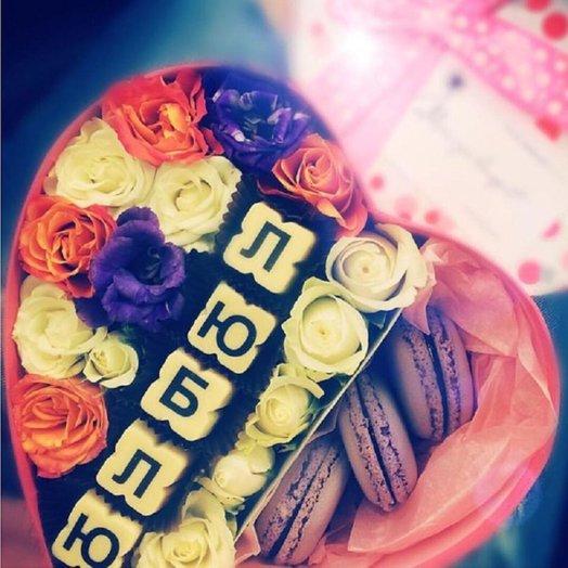 """Сладкий букет с розами """"Влюбленный май"""": букеты цветов на заказ Flowwow"""