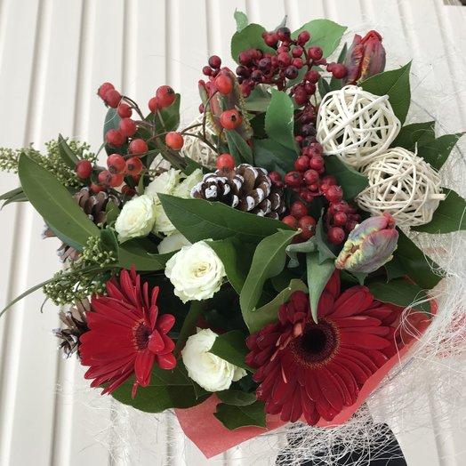 Букет Новогодний Сказка: букеты цветов на заказ Flowwow