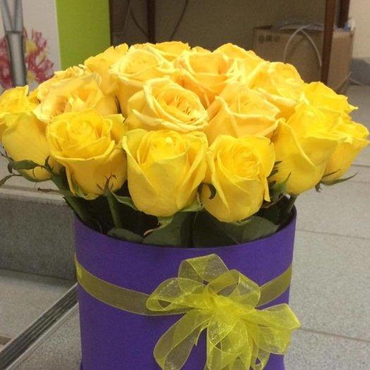 Коробка Солнышко: букеты цветов на заказ Flowwow