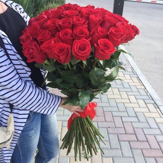 Букет из 51 импортной розы: букеты цветов на заказ Flowwow