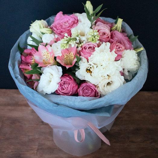 БУКЕТ В РОЗОВЫХ ТОНАХ: букеты цветов на заказ Flowwow