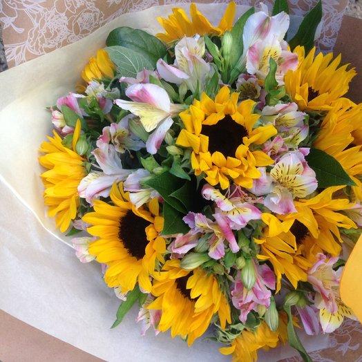 Букет Солнечный: букеты цветов на заказ Flowwow