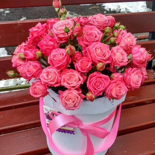 Нежнейшая шляпная коробка: букеты цветов на заказ Flowwow