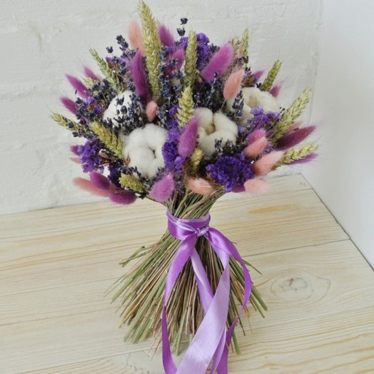 Весенний букет из сухоцветов