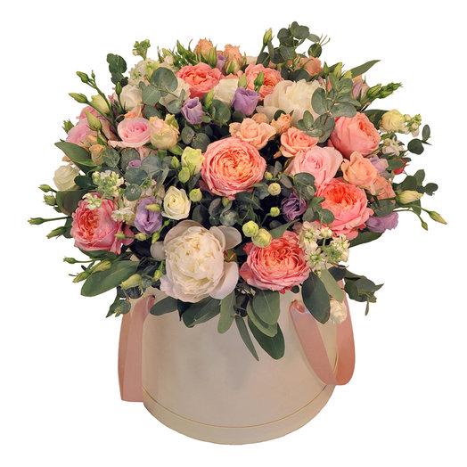 Букет Помпиду в коробке: букеты цветов на заказ Flowwow