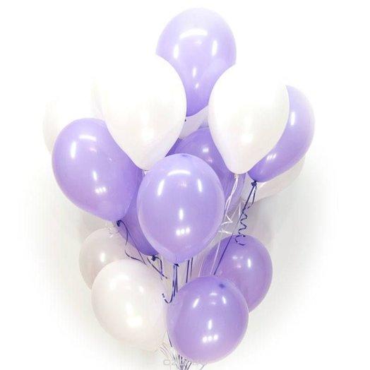 """Воздушные шары """"Сочетание сирени и белого"""""""