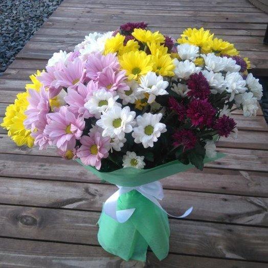 Букет из 9 хризантем: букеты цветов на заказ Flowwow