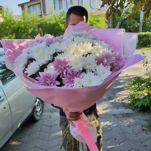 Огромный букет хризантем: букеты цветов на заказ Flowwow