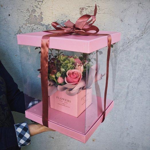 "Бокс ""Воздушные мечты"": букеты цветов на заказ Flowwow"