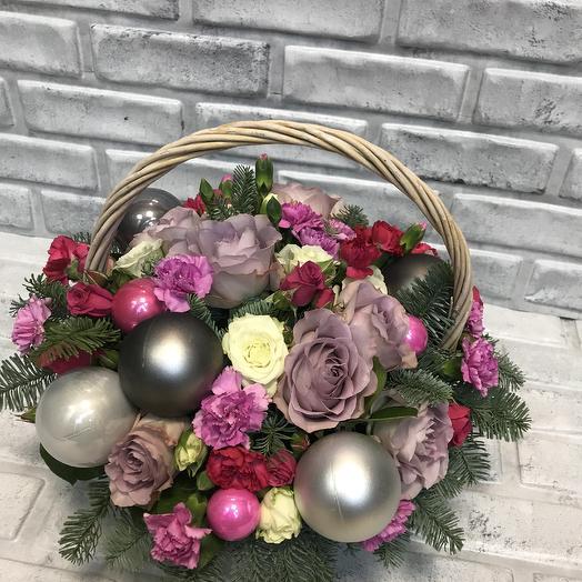 Корзина Декабрь: букеты цветов на заказ Flowwow