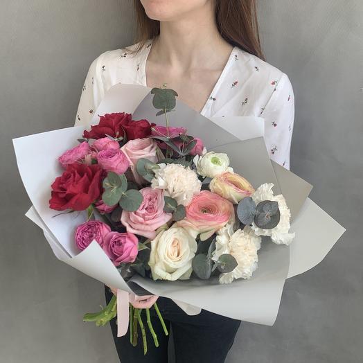 Малиновый коктейль: букеты цветов на заказ Flowwow